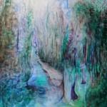 Nr.11 Garten - Der Weg, 80x60 cm, Acryl auf Leinwand, 2014