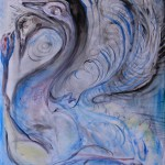 Nr.12 Tod eines Nandukükens, 50x40 cm, Acryl auf Leinwand, 2014