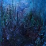Nr.13 Garten - Eindrücke im Dunkeln, 60x50 cm, Acryl auf Leinwand, 2014