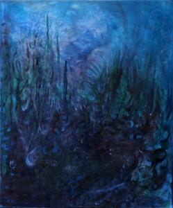 Nr.13-Garten-Eindrücke-im-Dunkeln-60x50-cm-Acryl-auf-Leinwand-2014