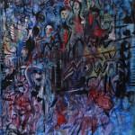 Nr.14 No war - PEACE, 80x60 cm, Acryl u. Öl auf Leinwand, 2014