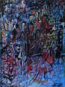 Nr.14-No-war-PEACE-80x60-cm-Acryl-u.-Öl-auf-Leinwand-2014