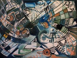 Nr.20-Netzkultur-Abstrakt-120x160-cm-Öl-auf-Leinwand-2014