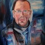 Nr.25 Selbstportrait, 80x60 cm, Öl auf Leinwand, 2014