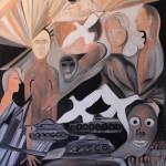 Nr.26 Kriegsängste und Friedenstauben, 100x80 cm, Öl auf Leinwand, 2014