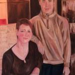 Nr.27 Mutter und Sohn - Meine Familie, 80x60 cm, Öl auf Leinwand, 2015