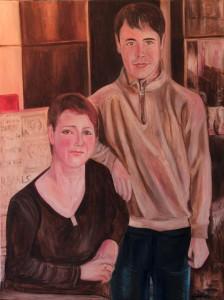 Nr.27-Mutter-und-Sohn-Meine-Familie-80x60-cm-Öl-auf-Leinwand-2015
