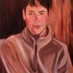 Nr.28 Portrait Clemens, 80x60 cm, Öl auf Leinwand, 2015