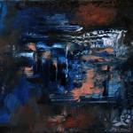Nr.3 Neuanfang 2014 - Sommer, 40x50 cm, Öl auf Leinwand, 2014