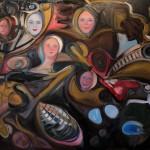 Nr.30 Vernetzt und vernabelt, 120x160 cm, Öl auf Leinwand, 2015