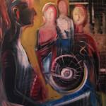 Nr.32 Online - allein, 100x80 cm, Öl auf Leinwand, 2015