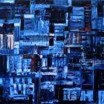 Nr.34 Blue's 3, 80x100 cm, Öl auf Leinwand, 2015