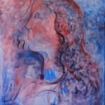 Nr.7 Portrait in Acryl, 80x60 cm, Acryl auf Leinwand, 2014