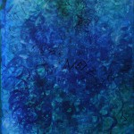Nr.9 Blau - Im Netz, 80x60 cm, Acryl u. Öl auf Leinwand, 2014