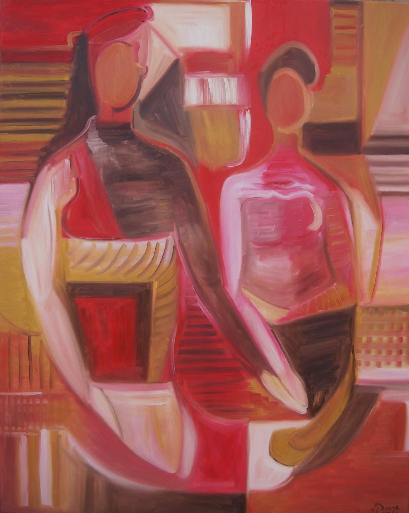 Nr.16 Das exotische Paar, 100x80 cm, Öl auf Leinwand 2016