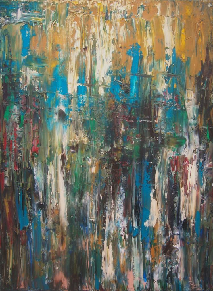 Nr.30 Im Rausch 1,  80x60-cm,  Öl auf Leinwand 2016