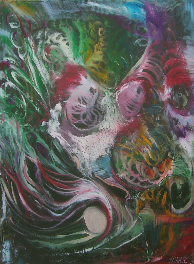 Nr.6 Die Geburt, 80x60 cm, Öl auf Leinwand 2015