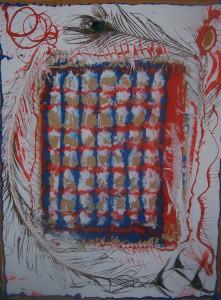 Nr.15-Experiment-80x60-cm-Acryl-Packpapier-Öl-auf-Leinwand-2016