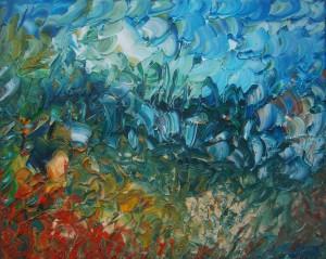 Nr.22-Fantastische-Landschaft-Flora-40x50-cm-Öl-auf-Leinwand-2016