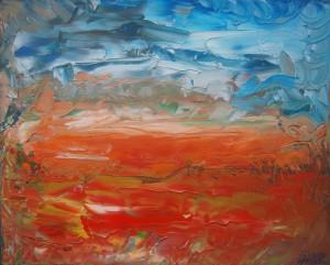 Nr.24-Fantastische-Landschaft-Wüste-40x50-cm-Öl-auf-Leinwand-2016