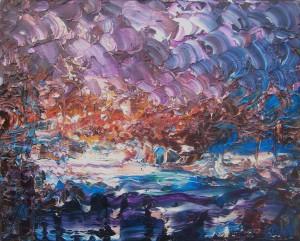 Nr.26-Fantastische-Landschaft-Meereshöhle-40x50-cm-Öl-auf-Leinwand-2016