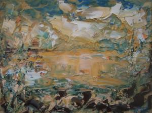 Nr.27-Fantastische-Landschaft-Spiegel-30x40-cm-Öl-auf-Leinwand-2016