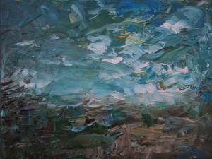 Nr.29-Fantastische-Landschaft-Unwetter-30x40-cm-Öl-auf-Leinwand-2016